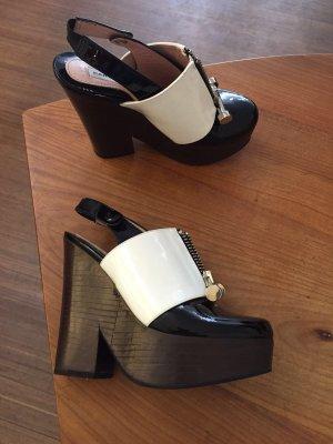 Carven Schuhe NEU - Lack, Leder, Gr. 35 - High Heels / Plateau / Blockabsatz