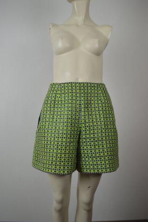 Carven Shorts grün schwarz Gr 34 XS
