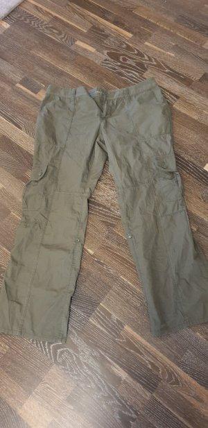 Pantalon palazzo gris vert