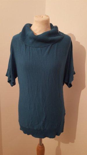 Casa Blanca Pullunder Pullover mit Kragen Kurzarm Größe L türkis