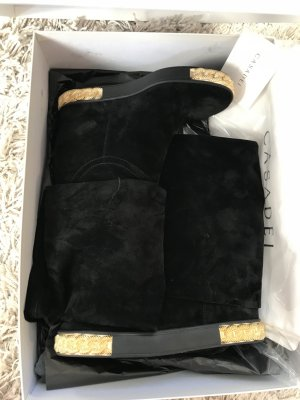 Riding Boots black-gold-colored