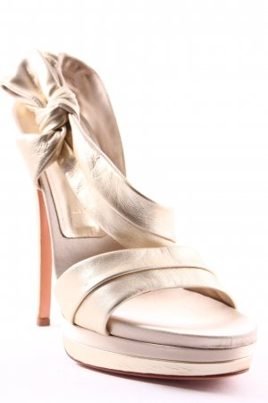 Casadei High Heel Sandaletten goldfarben Party-Look