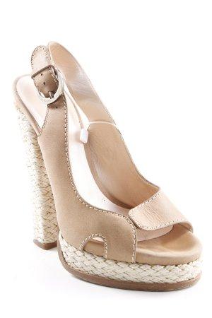 Casadei High Heels camel-hellbraun Party-Look