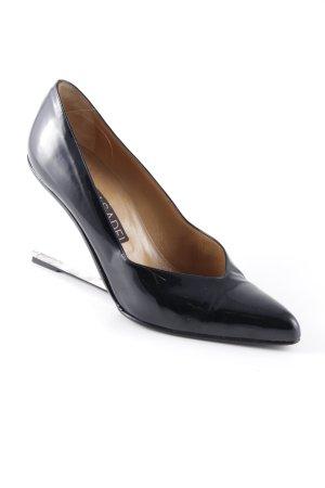 Casadei Keil-Pumps schwarz Elegant