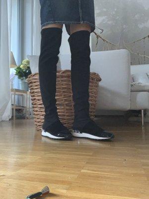 Casadei Botas sobre la rodilla negro