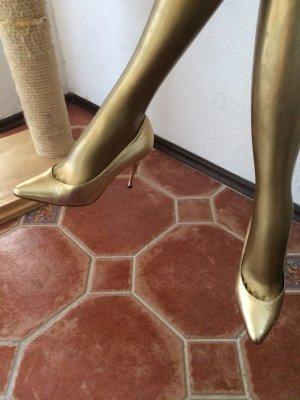 Casadei Pumps Gr 38, goldfarben