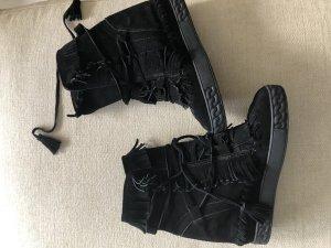 Casadei Schuhe schwarz Rauleder neuwertig gr 40