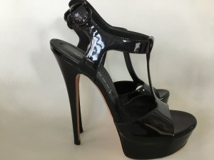Casadei Platform High-Heeled Sandal black leather