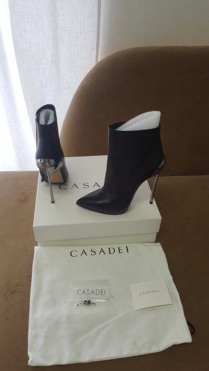 Casadei Cut out boots zwart Leer