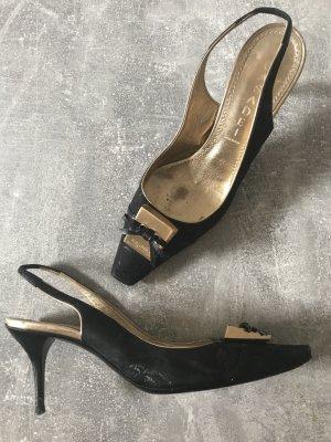 Casadei Slingback pumps zwart-goud