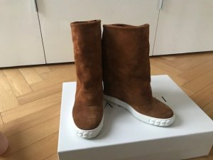 Casadei Heel Sneakers brown suede