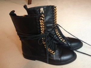 Casadei Lace-up Booties black-primrose leather