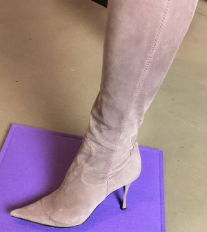 * CASADEI * Wildleder Stiefel High Heel Flieder grau lila  US 9,5 ( 39,5 40 )