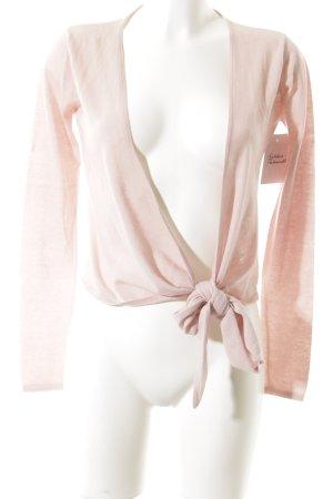 CASHFLOW Cache-cœur en tricot rose clair style classique