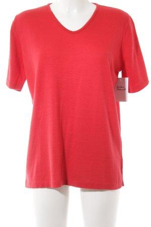 Cashmasoft Camisa tejida rojo look casual