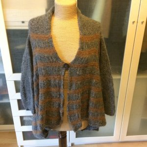 Knitted Coat grey-brown cashmere