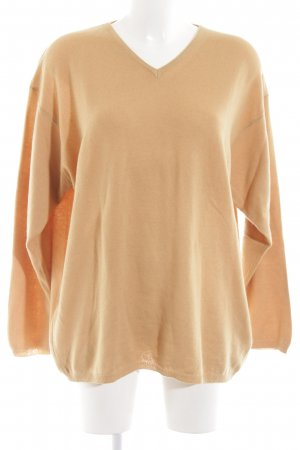 Cashmere Department V-halstrui nude casual uitstraling