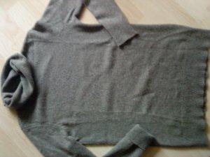 Cashmere Longpullover in graubraun L