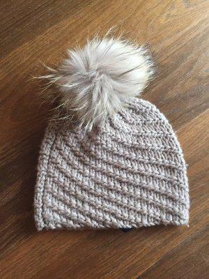 FFC Chapeau en tricot gris brun