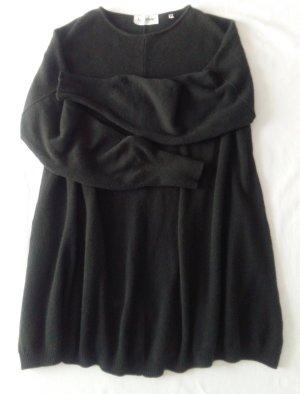 Pullover in cashmere verde scuro-antracite