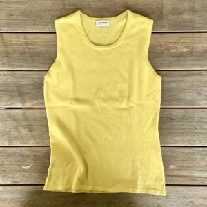 Cashmere Knitted Top dark yellow cashmere