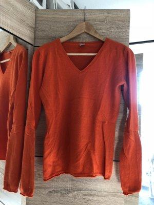 Brigitte von Boch Sudadera de cachemir naranja-rojo claro
