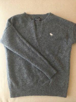 Cashmere Pullover grau Gr. M 38