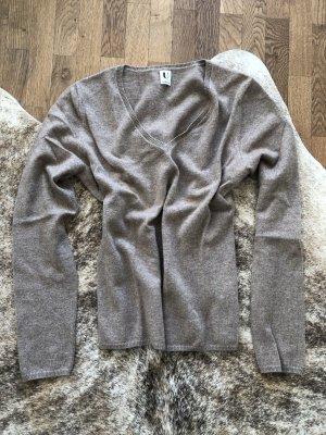 Sudadera de cachemir marrón grisáceo Cachemir