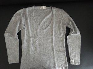 Cashmere Pullover mit V-Ausschnitt