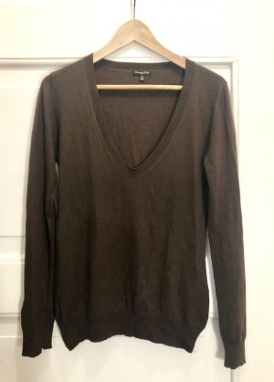 Cashmere-Pullover, Seide, braun