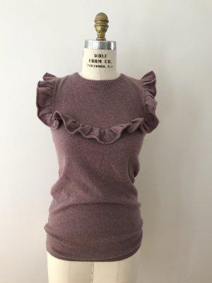 Sudadera de cachemir malva-lila grisáceo