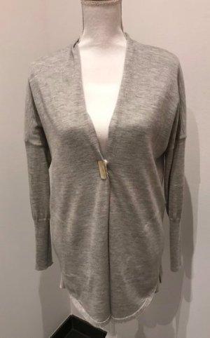 Brunello Cucinelli Veste en tricot argenté