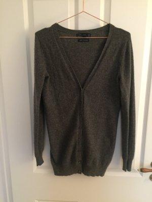 Zara Veste en tricot gris foncé cachemire
