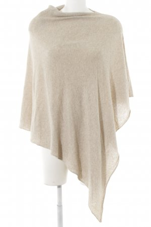 Cashmere Strickponcho beige meliert Casual-Look
