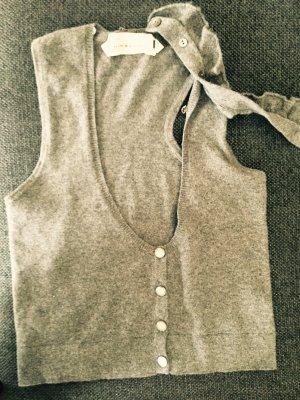 Cashmere Weste von SCHUMACHER mit abnehmbaren Kragen, grau, S