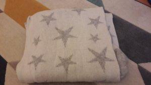 Cashmere XXL-Schal mit Sternen zum Wenden