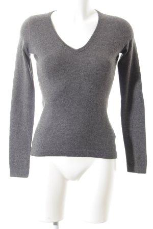Cashmerepullover grau schlichter Stil