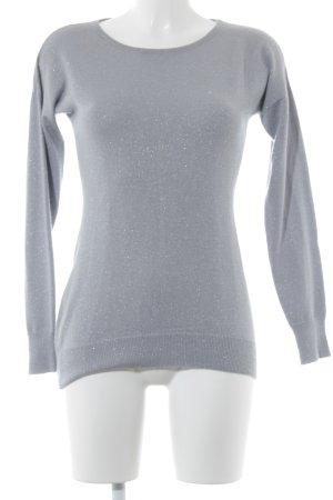 Cashmerepullover silberfarben-blassblau Casual-Look