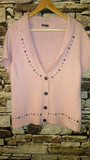Gerry Weber Smanicato lavorato a maglia rosa pallido-rosa chiaro Cachemire