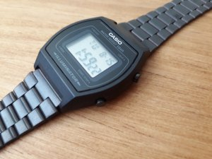 CASIO Armbanduhr (Cronograph Collection) schw.