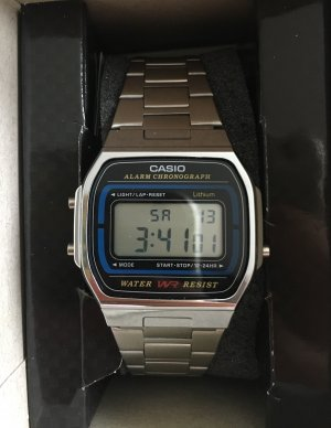 Casio Watch With Metal Strap multicolored