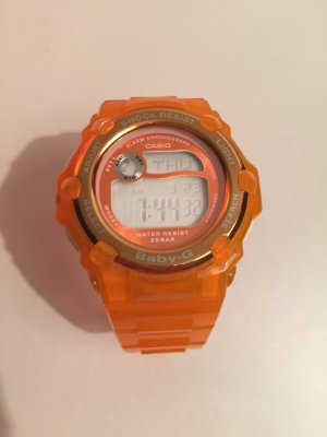 Casio Baby-G Digitaluhr Armbanduhr orange