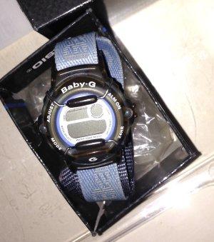 Casio Baby-G Doppel-Textilband in hellblau mit dunkelblau