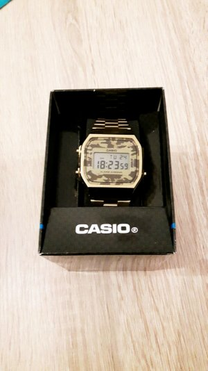 Casio Uhr Gold Camouflage uni sex