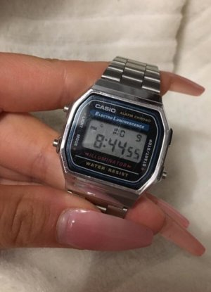 Casio Digital Watch silver-colored