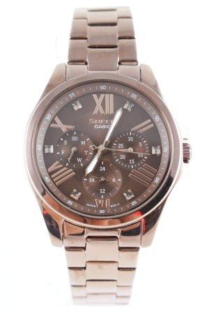 Casio Uhr mit Metallband bronzefarben Elegant