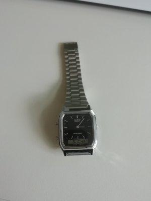 Casio Digital Watch black-silver-colored
