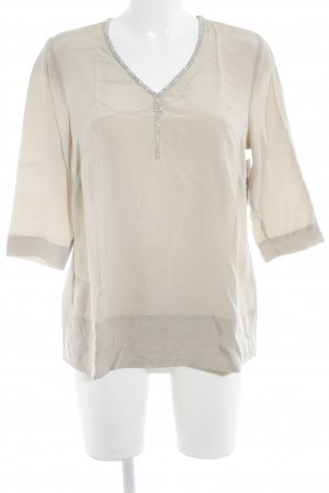 Caspar David Slip-over blouse beige elegant