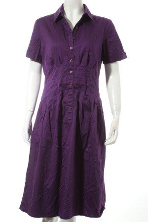 Cassani Blusenkleid lila schlichter Stil