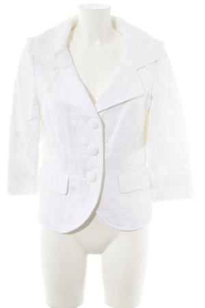 Cassani Blazer corto crema motivo astratto elegante